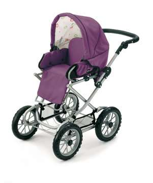 63891398 Rollenspielzeug BRIO Puppenwagen Premium Combi, violett (incl. Tasche) von Ravensburger 3