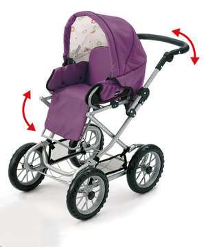 63891398 Rollenspielzeug BRIO Puppenwagen Premium Combi, violett (incl. Tasche) von Ravensburger 4