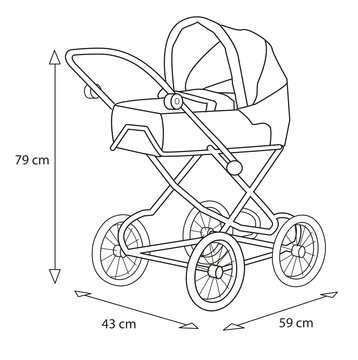 63891398 Rollenspielzeug BRIO Puppenwagen Premium Combi, violett (incl. Tasche) von Ravensburger 5