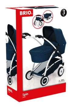 63901000 Rollenspielzeug BRIO Puppenwagen Spin blau mit Schwenkrädern von Ravensburger 1
