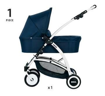 63901000 Rollenspielzeug BRIO Puppenwagen Spin blau mit Schwenkrädern von Ravensburger 4