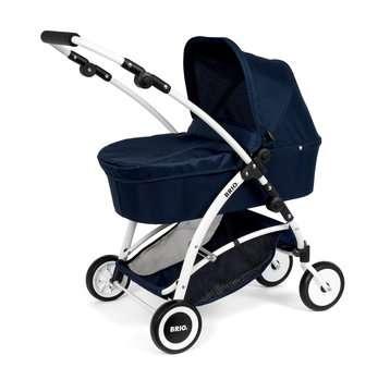 63901000 Rollenspielzeug BRIO Puppenwagen Spin blau mit Schwenkrädern von Ravensburger 7