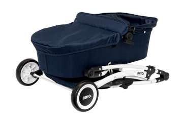 63901000 Rollenspielzeug BRIO Puppenwagen Spin blau mit Schwenkrädern von Ravensburger 8