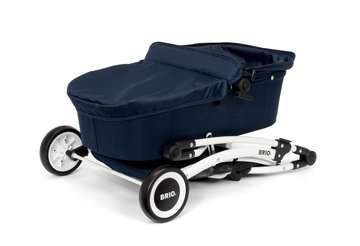 63901000 Rollenspielzeug BRIO Puppenwagen Spin blau mit Schwenkrädern von Ravensburger 9
