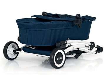 63901000 Rollenspielzeug BRIO Puppenwagen Spin blau mit Schwenkrädern von Ravensburger 12
