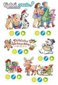 80669 tiptoi® Sticker tiptoi® REWE Weihnachtssticker von Ravensburger 1