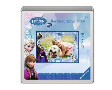 my Ravensburger Puzzle Disney Frozen – 100 pieces in a metal box Jigsaw Puzzles;Children s Puzzles - image 1 - Ravensburger