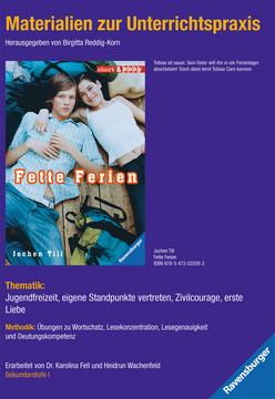 98063 Liebesromane Materialien zur Unterrichtspraxis - Jochen Till: Fette Ferien von Ravensburger 1