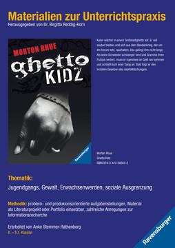 98091 Brisante Themen Materialien zur Unterrichtspraxis - Morton Rhue: Ghetto Kidz von Ravensburger 1