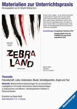 Materialien zur Unterrichtspraxis - Marlene Röder: Zebraland Jugendbücher;Brisante Themen - Bild 1 - Ravensburger