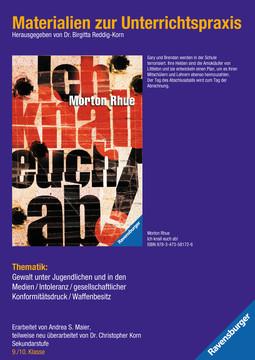 98114 Brisante Themen Materialien zur Unterrichtspraxis - Morton Rhue: Ich knall euch ab! von Ravensburger 1