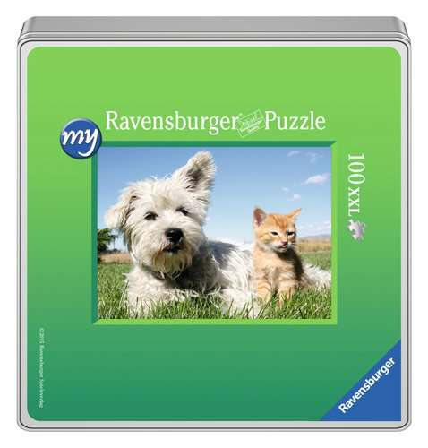 my Ravensburger Puzzle – 100 pieces in a metal tin - image 1 - Click to Zoom