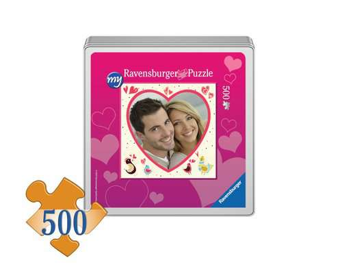 my Ravensburger Puzzle – 500-piece heart-shaped puzzle in a metal tin - image 1 - Click to Zoom