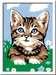 Numéro d art - mini - Chaton tigré étonné Loisirs créatifs;Peinture - Numéro d'Art - Image 2 - Ravensburger