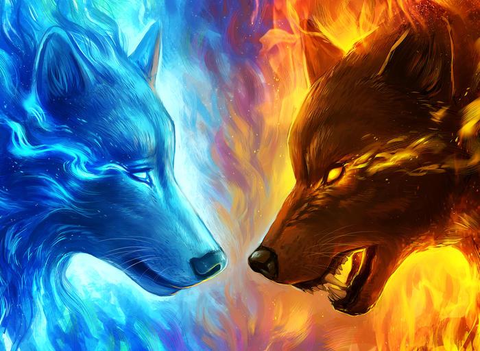 Die Wölfe aus Feuer und Eis
